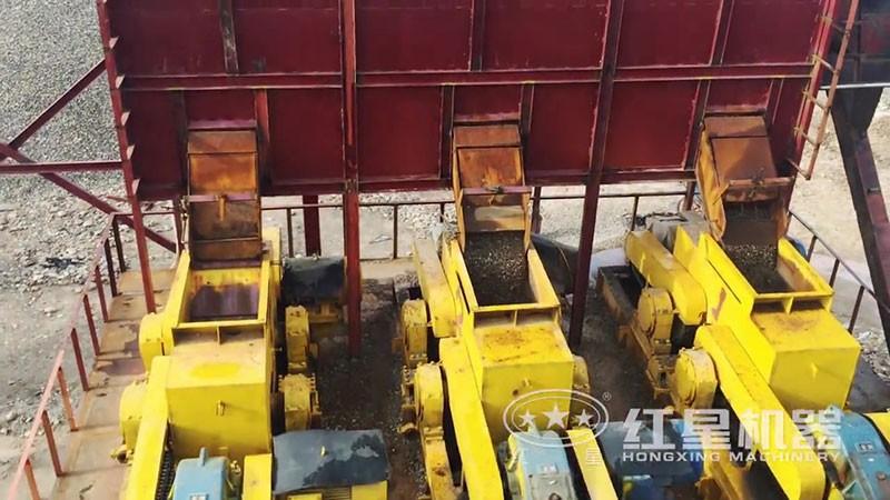 湖南对辊制砂机生产现场高清实拍